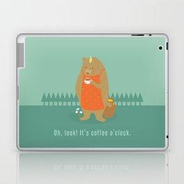 Bear Drinking Coffee Laptop & iPad Skin