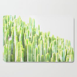 Cactus summer watercolor Cutting Board