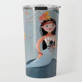 Milla Mermaid in the fall Travel Mug