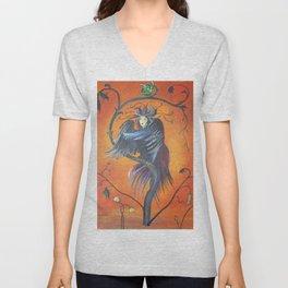Gamaun The Prophetic Bird With Ruffled Feathers Unisex V-Neck