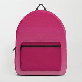 Millennial Pink Peacock Maroon Gradient Pattern Backpack