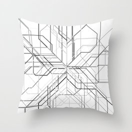Wyre White Throw Pillow