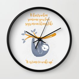 Sleeping is the best thing! Wall Clock