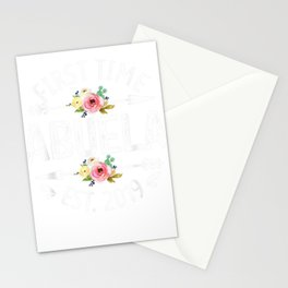 New Grandma To Be Gift- First Time Abuela 2019 Shirt Stationery Cards