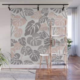 Layered Leaves Wall Mural