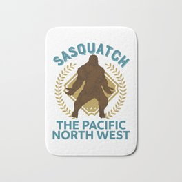 Sasquatch The Pacific North West PNW Bigfoot product Bath Mat
