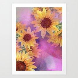 Sunflowers Heaven Art Print