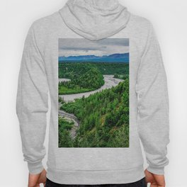 Photos Alaska USA Denali Nature Parks Forests landscape photography Rivers park forest Scenery river Hoody