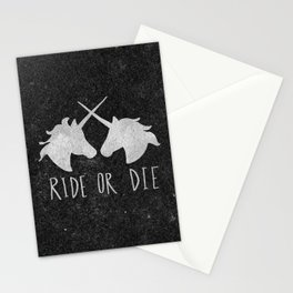 Ride or Die Unicorn Magic Stationery Cards