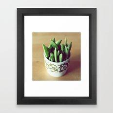 Sugar peas Framed Art Print
