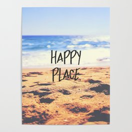 Happy Place Beach Poster