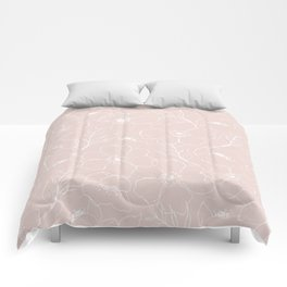 Floral Simplicity - Pink Comforters