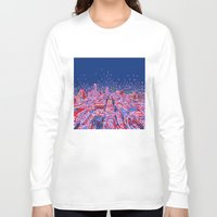 austin Long Sleeve T-shirts featuring austin texas city skyline by Bekim ART