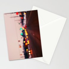 City Lights Bokeh Stationery Cards