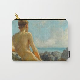 The Bather, 1924 by Henry Scott Tuke Carry-All Pouch