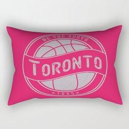 Toronto basketball red vintage logo Rectangular Pillow