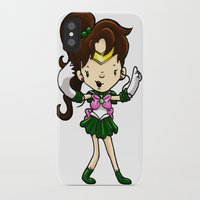 sailor jupiter iPhone & iPod Cases featuring Sailor Scout Sailor Jupiter by Space Bat designs