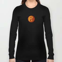 Yellow and Red Yin Yang Roses Long Sleeve T-shirt