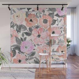 Elegant simple watercolor floral Wall Mural