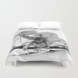 HOW IT BEGINS (featuring the photography of Harvey Lisse w/his daughter Chontelle) Duvet Cover