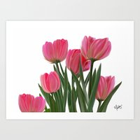 The Joy of Tulips Art Print