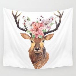 Winter Deer 3 Wall Tapestry