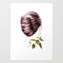 Look at me again, wine Art Print