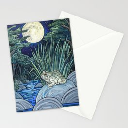 Moonlight Toad Stationery Cards