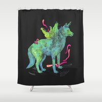 psychadelic Shower Curtains featuring Desert Dreamer Uno by kozyndan
