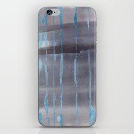 Grey Rain iPhone Skin