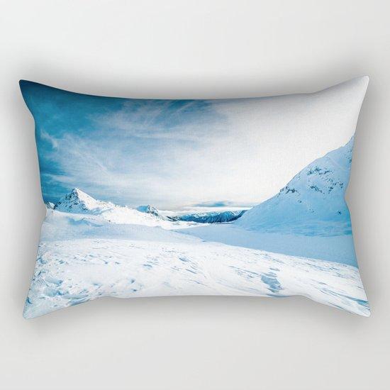 White Mountain 3 Rectangular Pillow