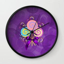 Purple Lollypop Dreams Wall Clock