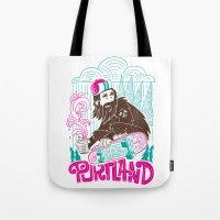 sasquatch Tote Bags featuring Portland Sasquatch  by tim weakland