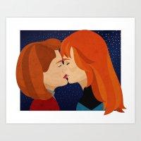 Janeway/Crusher Art Print