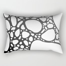 Grey Bubbles Rectangular Pillow