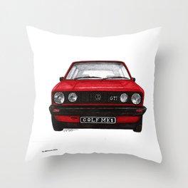 Golf Mk1 Throw Pillow