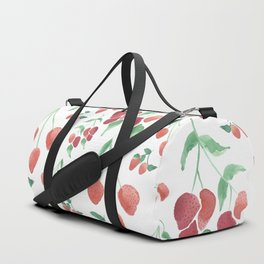 Watercolor Strawberries Duffle Bag