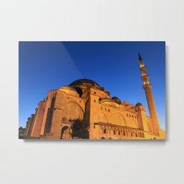 Suleymaniye mosque in istanbul Metal Print