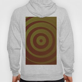 Crimson and gold abstract circles Hoody