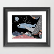 the Fossil Record Framed Art Print