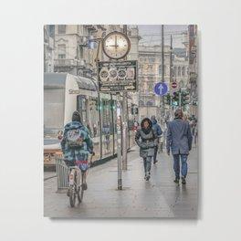 Urban Street Historic Center of Milan, Italy Metal Print