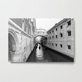 Venice Bridge of Sighs. Italy Metal Print