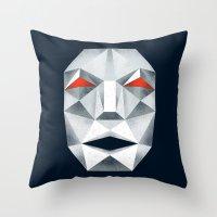 starfox Throw Pillows featuring Star Fox Andross Lylat Lowpoly Laugher by Barrett Biggers