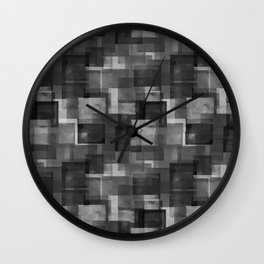 Squares Interrupted Wall Clock