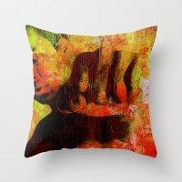 "ali Throw Pillows featuring Cassius ""Ali"" by Ganech joe"