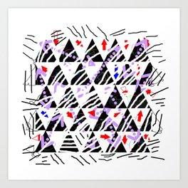 stripes-zebra-holiday 01 Art Print