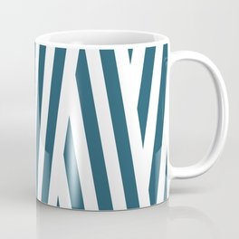 Diagonal navy stripes Coffee Mug