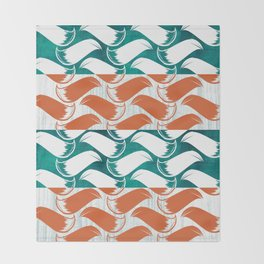 Foxhatched Throw Blanket