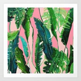 ?Green Nature on Pink Art Print