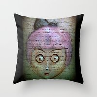 writer Throw Pillows featuring Ghost Writer by Terrestre